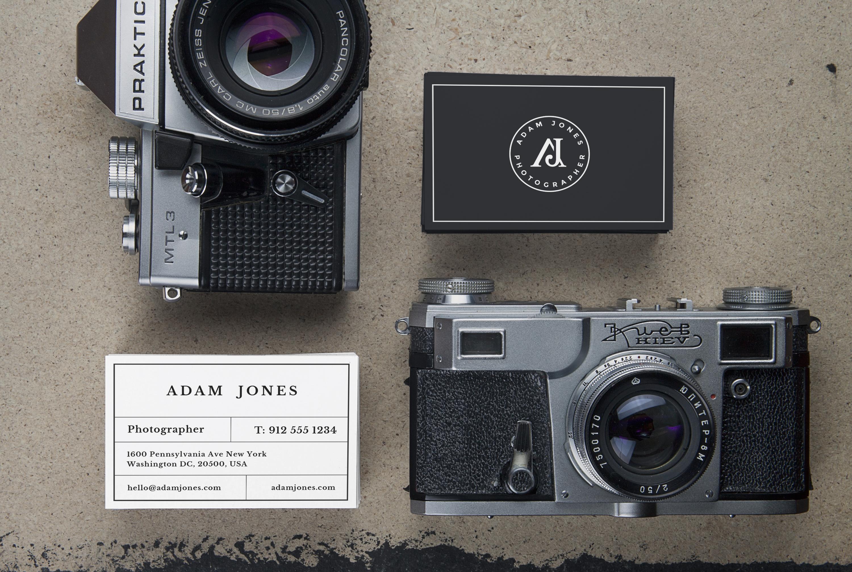Vintage Cameras & B Cards MockUp pafpic
